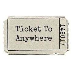 Ticket to anywhere ❥ Its not always about the destination.sometimes its the journey! Just GO! Just Go, To Go, Let It Be, Travel Quotes, Techno, Ticket, Decir No, Travel Inspiration, Inspiration Quotes