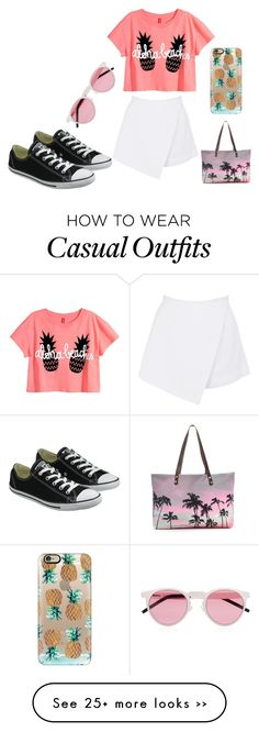 """Summer Casual"" by catwalk-664 on Polyvore featuring Casetify, Illesteva, BeginAgain Toys, Samudra and Converse"