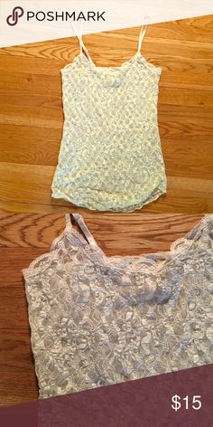 b35f862fbc1e White Lace Tank Beautiful white lace cami with adjustable straps! Great for  showing off a