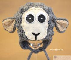 Шапочка с мордочкой овцы