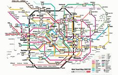 The Web Trends Map New York Subway, Nyc Subway, Web 2.0, Le Web, Trends Map, Tokyo Subway, Image Internet, Metro Map, Internet Trends