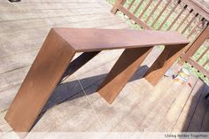 Living Better Together: DIY Sofa Table: Tutorial