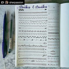 """697 Likes, 4 Comments - Apsi's visual notes & doodles (@therevisionguide) on Instagram: """"#Repost @sherpassion with @repostapp ・・・ Anyone need some border and divider ideas? There are tons…"""""""