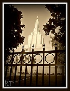 Idaho Falls LDS Temple. First temple I remember seeing.