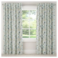 """Blackout Chinois Curtain Panel Blue (50""""x120"""")"""