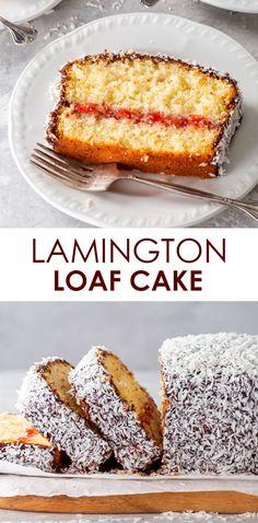 Loaf Cake, Pound Cake, Chocolate Icing, Strawberry Jam, Gluten Free Desserts, Glutenfree, Cake Recipes, Coconut, Middle