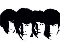 Beatles Black and White Clip Art
