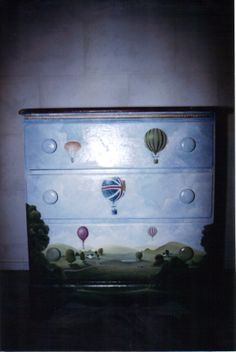 Hand painted chest of drawers by Walls of Illusion Painting.