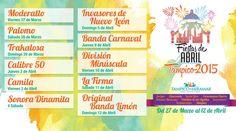 Fiestas de Abril Tampico 2015
