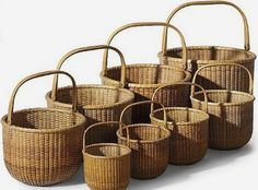 Nantucket Lightship baskets in different sizes