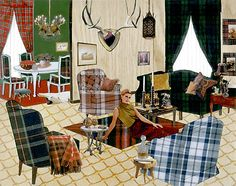 Laurie Simmons  The Instant Decorator (Plaid Living Room)  2004  Sperone Westwater, New York
