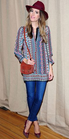I'm not normally down for boho chic, but Louise Roe does it so well, without taking it too far. | Photo Michael Simon/startraksphoto.com, via whowhatwear