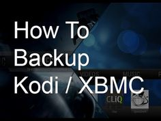 How To Backup XBMC (kodi) library  http://cwilliamtech.weebly.com/    http://www.youtube.com/nhsmedia