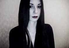 self portrait without camera ;) Moticia Addams, a little
