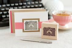 Vintage Camera Rubber Stamp - Handcrafted Wood Mounted - Picture Time Great Letterboxing or Photographer Stamp Excellent for Scrapbooks on Etsy, Photographer Gifts, Gifts For Photographers, Tapas, Pretty Packaging, Vintage Stamps, We Are The World, Vintage Cameras, Photography Business, Vintage Photography
