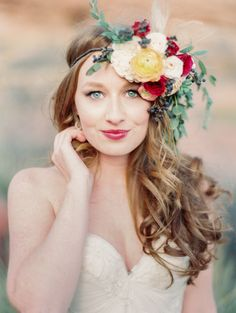 sarah seven from a&be bridal shop // desert rocks shoot featured on style me pretty
