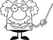 Funny scientist Clip Art Free | free funny cartoon scientist foto search clipart rf royalty free