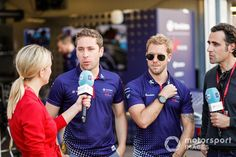 Robin Frijns, Envision Virgin Racing, Sam Bird, Envision Virgin Racing, con TV Dario Franchitti at Mónaco ePrix - Fórmula E Fotos