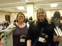 JoJo and Mandy stop by  - Supporting Author Signing (court. Melyna Drache)