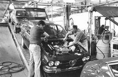 Alfetta GTV assembly line, Portello factory