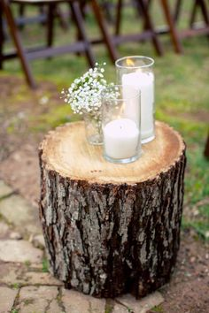 link to an eco-friendly outdoor wedding, but great ideas for any backyard party - photo by Once Like a Spark Photography