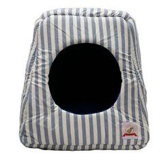 Casinha para Cachorro Mágica Listrada Azul Bag Dog - MeuAmigoPet.com.br #petshop…