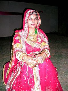 RAJPUT bride wearing a pink lehenga