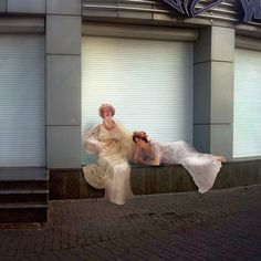 People From Classic Paintings Inserted Into Modern City Life