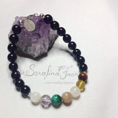 This Chakra Bracelet is for the avid gardener, the Farmer, the hobby or professional botanist or nature lover. It has stones selected which resonate with the sun, the moon and the elements.