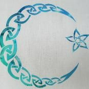 Celtic Moon and Star Applique - via @Craftsy