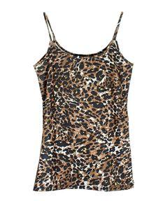 Leopard Print Spaghetti Strap Tank Top