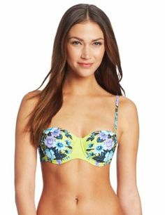 0d557fcf9f Seafolly Women s Bella Rose Bustier Bikini Bra Bustier Bikini Top