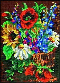 Flower basket ministeck