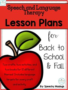 This post walks you through the materials that are included in my Back to School and Fall Speech and Language therapy packet. If you work with elementary aged students, this packet WILL save you time and help you have more fun in therapy this fall!   Speechy Musings #speechtherapy #backtoschool #fallspeechtherapy #slpeeps