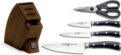 Wusthof Classic Ikon 5 Piece Knife Block Set in Brown Best Kitchen Knife Set, Best Kitchen Knives, Knife Block Set, Knife Sets, Wusthof Knives, Wusthof Classic, Ikon, Amazon, Cooking