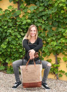 Sunsa Vintage Canvas Tasche Ledertasche Shopper Handtasche Schultertasche Canvastasche Damentasche Vintagetasche