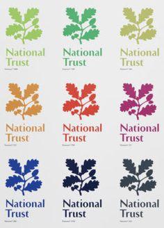National Trust logo Business Inspiration, Logo Inspiration, Woodland Logo, Trust Logo, Charity Branding, Textile Business, Typo Logo, School Logo, Forest School