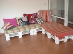 Just another pallet sofa ! #Pallets, #Sofa
