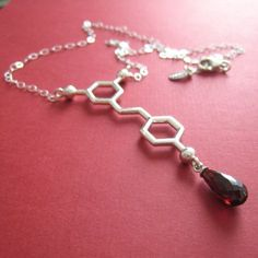 red wine - resveratrol - necklace  Made With Molecules by Raven Hanna