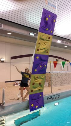 AquaClimb Ascent with custom metallic colors at the Western Illinois University. See more at http://www.facebook.com/aquaclimb or www.aquaclimb.com Show your school spirit.