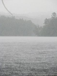 Summer rain storm on Canada Lake