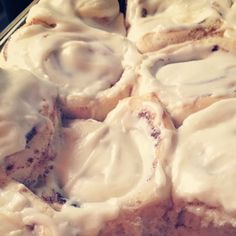 These Sticky Cream Cheese Cinnamon Rolls are the BEST - a soft, fluffy dough, thick filling, and slathered with cream cheese frosting.