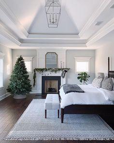 Dream Bedroom, Master Bedroom, Bedroom Decor, Bedroom Ceiling, Master Suite, Bedroom Ideas, Bedroom Fireplace, Girl House, Deco Design