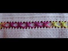 Mulher.com 12/02/2015 Ponto crivo flores e bainha aberta por Leila Jacob Parte 1 - YouTube