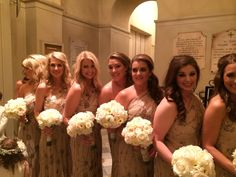 Bridesmaids Waiting for the Moment