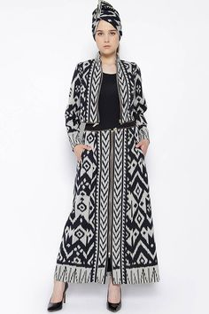 3 in 1 Handwoven Ikat Jacket, Outer and Dress - baju batik Muslim Fashion, Ethnic Fashion, Hijab Fashion, Fashion Dresses, Womens Fashion, Blouse Batik, Batik Dress, Outer Batik, Batik Kebaya