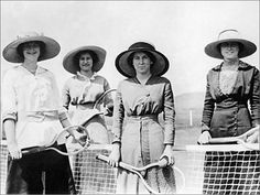 The Hourglass Files: female tennis players, 1910-15, photo from logicstock llc