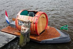 A Barrel Boat.