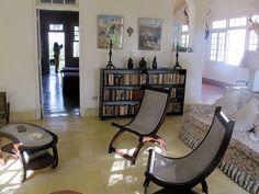 Living room at Hemingway's house, the Finca Vigia, in Cuba. Photo by Bruce Tuten, via Flickr