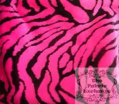 Hot Pink Bengal Zebra Faux Fur www.thefabricexchange.com